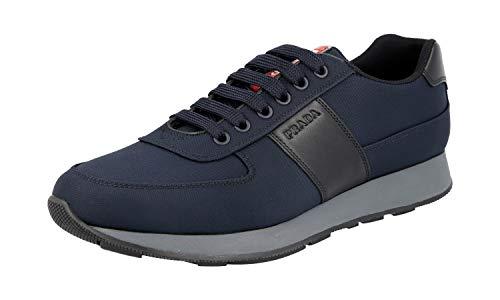 Prada Herren Blau Nylon Sneaker 4E3341 OQ6 F0713 42 EU/UK 8