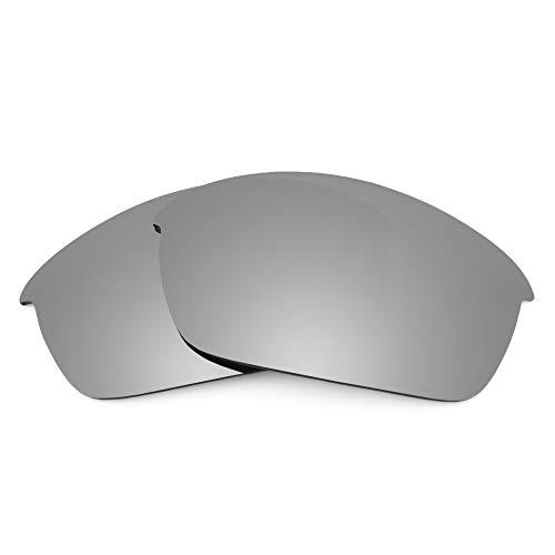 Revant Lentes de Repuesto Compatibles con Gafas de Sol Oakley Flak Jacket, Polarizados, Titanio MirrorShield