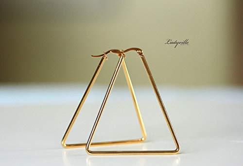 Ohrringe Triangel Kreolen aus Edelstahl/Statement Ohrringe/Geschenk für die Freundin/Geometrische Ohrringe/Moderne Kreolen