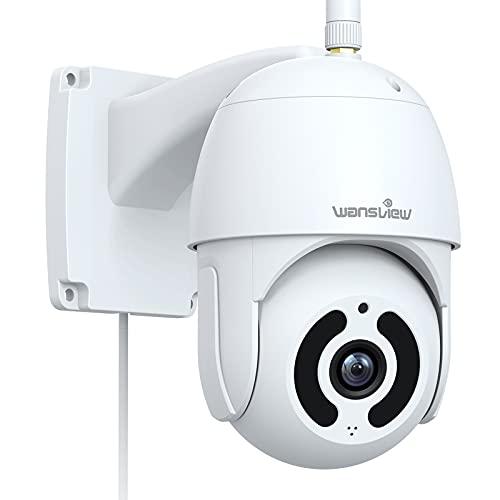 PTZ Überwachungskamera Aussen,Wansview 1080P WLAN IP Kamera Outdoor,Bewegungserkennung,Nachtsicht, Zwei-Wege-Audio, SD-Kartenslot,IP65 Wasserdicht, ONVIF und RTSP,funktioniert mit Alexa W9