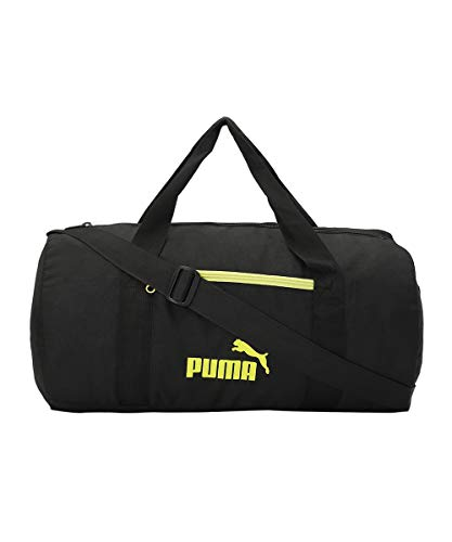 Puma unisex-adult PUMA Gym Bag IND III Puma Black-Lime Green Luggage- Garment Bag-X