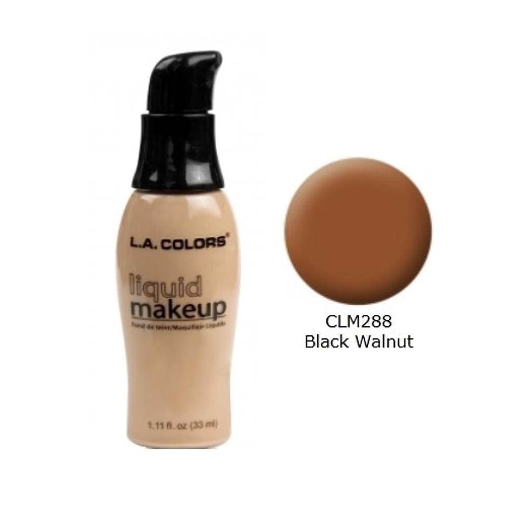 鳴り響く思慮のない洗う(3 Pack) LA COLORS Liquid Makeup - Black Walnut (並行輸入品)
