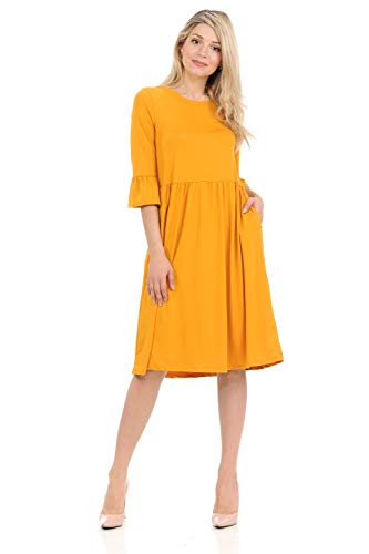 iconic luxe Women's Midi Dress with…