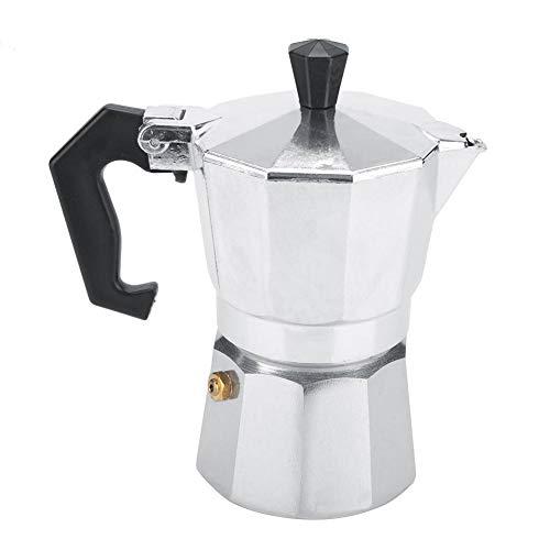 Mocha Pot, Aluminum Classic Espresso Coffee Maker Stove Moka Pot Home Office Use 100ML 2-Cups
