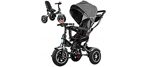 BDW Dreirad für Kinder, 4 in 1 Kinderdreirad mit Lenkbarer Schubstange, 360° Drehsitz, ab 9 Monate bis 5 Jahre, Belastbarkeit bis 25 kg (2)