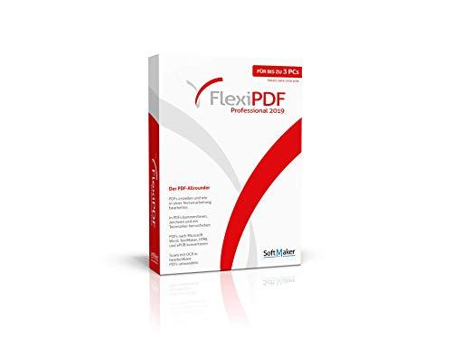 FlexiPDF Professional 2019|Professional|3 Geräte / 1 Gerät bei kommerzieller Nutzung|unbeschränkt|PC|Disc|Disc