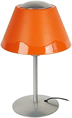 Tosel 64076 Polycone Lampada Abat-Jour, tubo in acciaio con pittura epossidica/polipropilene, in alluminio, colore: arancione, 225 x 350 mm