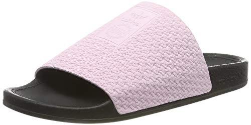 adidas Damen Adilette Luxe W Dusch-& Badeschuhe, Pink (Clear Pink/Core Black/Gold Met. Clear Pink/Core Black/Gold Met.), 42 EU