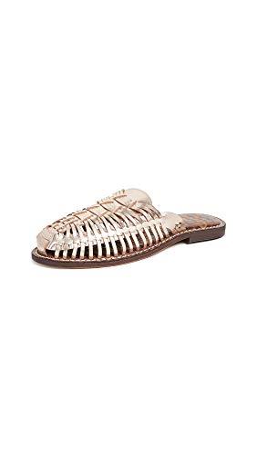Sam Edelman Women's Keelyn Shoe, Blush Gold Metallic Leather, 10 M US