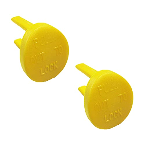 Yellow Safety Switch Key Compatible with Craftsman Radial Arm Jointer Band Drill Sears Table Saw, Sander, Band Saw, Drill Press Parts- Oval (2pcs-pack)
