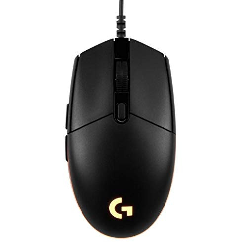 Logitech G203 Prodigy Ratón Gaming con cable, 8000 DPI, RGB LED Personalizable con 16,8 M Colores, Peso Reducido, 6 Botones Programables, Memoria Integrada, PC/Mac,G203 1ª Gen.,Negro