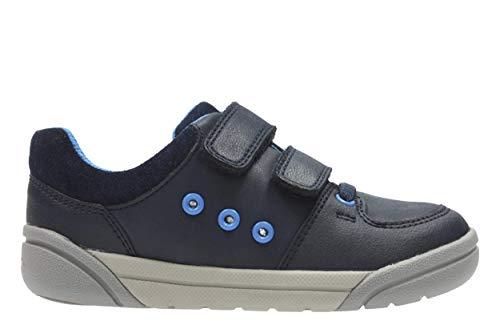 Clarks, Chaussures Basses pour Garçon Bleu Bleu Marine Taille Unique