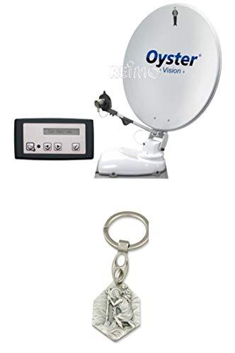 Zisa-Kombi Digital Sat-Antenne Oyster Vision 85 Twin Skew (932988493272) mit Anhänger Hlg. Christophorus