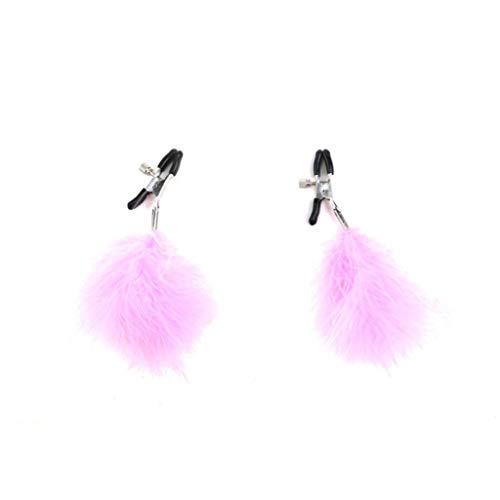 WRZHL Dames Body Decoratie Brěast Labi'a Klemmen Breas't Muscle Stimulerend Speelgoed Nìpplé Correctie Clip T-Shirt Portemonnee Zonnebril roze