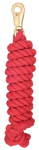 Tough 1 Economy Cotton Lead with Trigger Bull Snap, Red, 3/4-Inch x 8 1/2-Feet