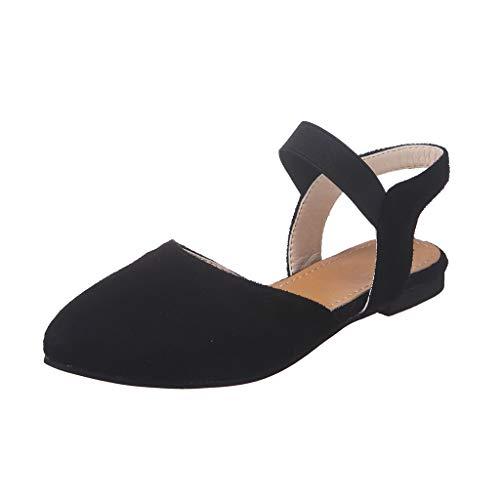 Sandales Femme Ete 2019 Honestyi Chaussures Plates Escarpins Bout Pointu Tongs Couleur Unie Dame Sandales Rome Chic Chaussures Facile à Assortir Shoes