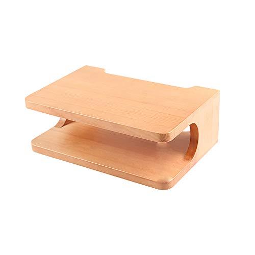 FEI Boîte de rangement en bois massif pour bâti mural, support de télévision, plateau supérieur pour tablette de rangement pour routeur, 30 x 10 * 8 cm