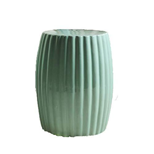 CHU N in Bianco e Nero smaltato Sgabello Fredda Elegante, High Temperature Ceramic Tamburo Sgabello spogliatoio Sgabello Bagno