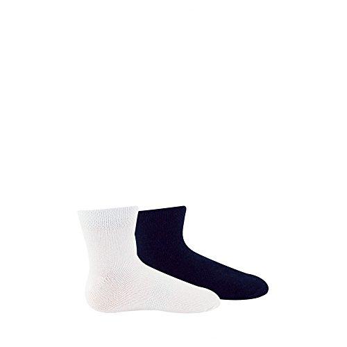 Kindy Jungen Socke, Weiß (Blanc/Matelot), 24/26