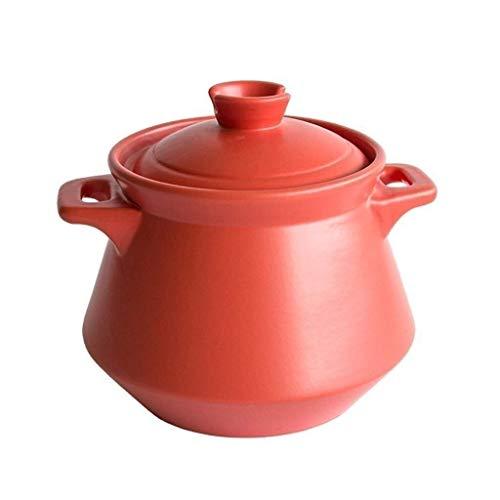 YWYW Cazuela de Sopa casera Olla de cazuela Sopa de cerámica casera Guiso de Alta Temperatura Estofado de Gas Minghuo (Tamaño: 2.5L) (Color: como Foto, Tamaño: 6.5L)