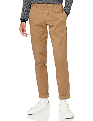 Marchio Amazon - find. Pantaloni Uomo, Marrone (Otter), 32W / 32L, Label: 32W / 32L