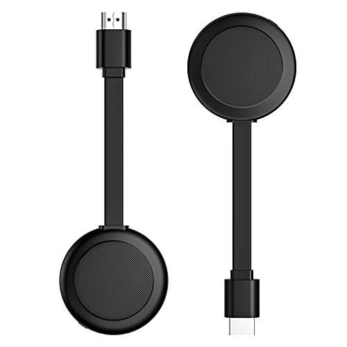 DERCLIVE Adaptador inalámbrico 1080P HDMI compatible con pantalla WiFi Dongle PC a TV/Monitor/Tablet/Windows/Mac, negro