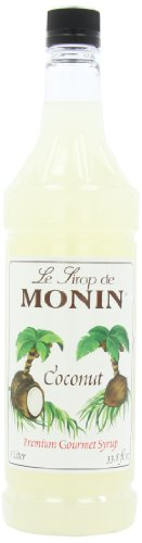 Monin Coconut, 33.8-Ounce Packages (Pack of 4)