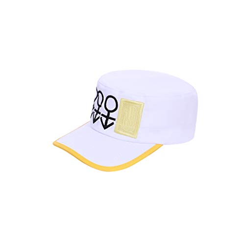 WOSHOW JoJo's Bizarre Adventure Diamond is Unbreakable Kujo Jotaro Cosplay White hat Peaked Cap