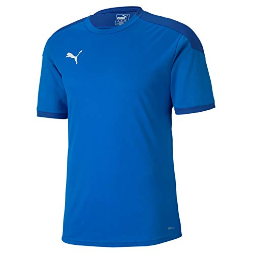 PUMA Teamfinal 21 Training Jersey T-Shirt Homme, Electric Blue Lemonade-Team Power Blue, XL