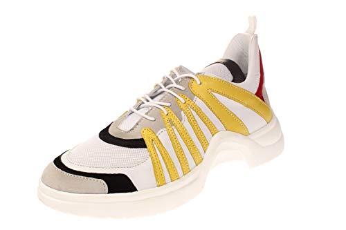 Maca Kitzbühel 2492 - Damen Schuhe Sneaker - White-Yellow, Größe:38 EU