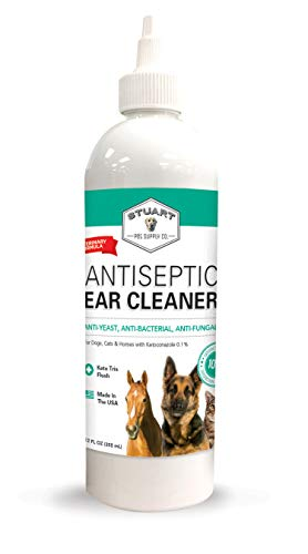 Stuart Pet Supply Co. Antiseptic Dog Ear Infection Treatment (12oz) -Veterinary Formulated-Veterinary Recommended for Head Shaking, Itching, Discharge & Smelly Ears 100% Guarantee