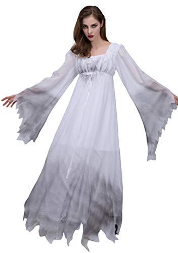 EverNight Zombie Brautkleides, Horror Geisterspiel-Leistungskleid, Cosplay Kostüm-Partei Halloween-Kostüm,S