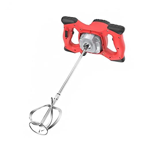 Mezcladora de mortero de yeso eléctrica hormigón de cemento portátil Taladro herramienta de agitación del mezclador 2100W eléctrica roja multiherramienta Kit de Producto Industrial