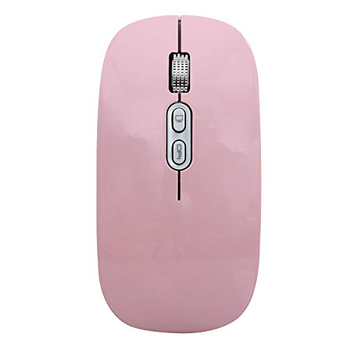 Lopbinte M103 Rechargeable Mouse Silent Button USB Optical Mouse Dpi 1600 with Charging Cable for Computer Laptop(Pink)