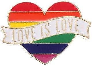 WEHONG Pride Rainbow Gay Pins Distintivo in Latta Lesbica Bisessuale Simbolo Pin Icone Spilla Accessori per Gioielli