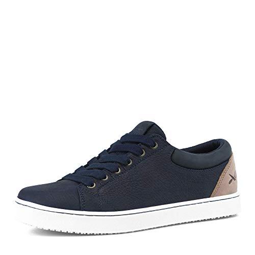 MOZO Men's Finn Sneaker, Navy/Taupe, 9 Medium US