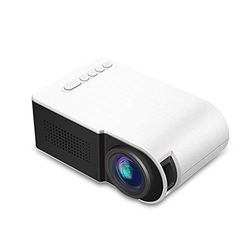 LED-Mini-Projektor tragbar, 1080p-Unterstützung, HD-Heimkino-Projektor, Projektorgröße 60 ', LED-Lebensdauer 30.000 Stunden, kompatibel mit HDMI, USB, SD, Av