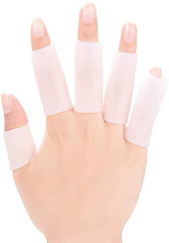 Mcvcoyh ジェル 指サポーター (12個入)り 手指保護キャップ 指関節サポーター 親指 ヘバーデン結節サポーター 指関節まもりん 指袖・バネ指に 指先・外傷