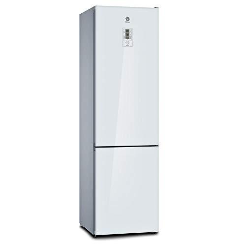 Balay, 3KFE768WI - Frigorífico combi No-Frost, Acabado en cristal, Altura 203 cm, 279 litros, Color Blanco