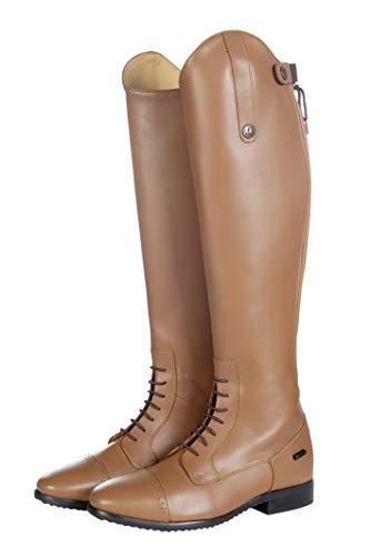 HKM Valencia - Botas de equitación para adulto, largo y estrecho, 1000 pantalones, color coñac 39