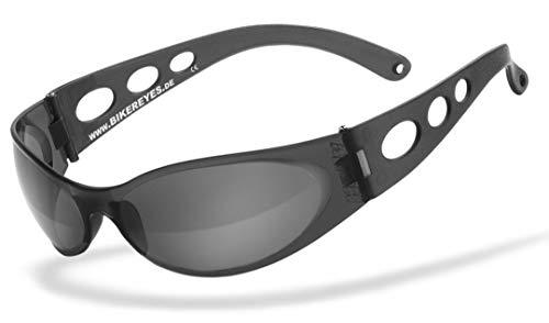 HELLY® - No1 Bikereyes® | Bikerbrille, Motorradbrille, Motorrad Sonnenbrille | windabweisend, bruchsicher, beschlagfrei | TOP Tragegefühl bei langen Ausfahrten | Brille: pro street