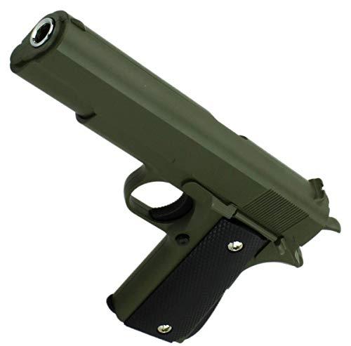 VIKING GEAR® Airsoft Pistole - Vollmetall Metallschlitten, dunkel grün Kaliber 6 mm BB Ink. Premium BBS Munition - Dark Green Pistol 19cm - Metal Slide