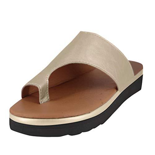 Aniywn - Sandalias para mujer con puntera abierta, cómodas, sandalias de plataforma, para verano, playa, romanas, chancletas, 38, Negro