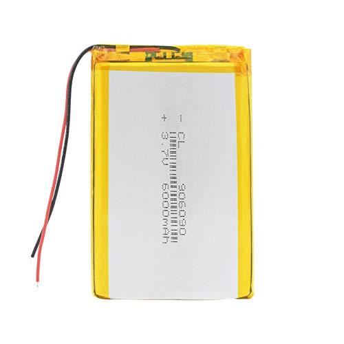 Batería de Iones de Litio de polímero de Voltaje de 3,7 v, batería Recargable de 6000 mah Lipo para Tableta GPS, Producto Digital Mid 1piece