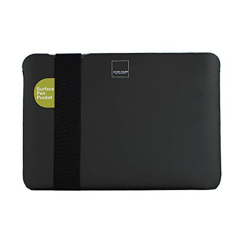 Acme Made Skinny Sleeve XS, dünne Neopren Schutzhülle für Tablets und Laptops, Notebookhülle mit 11-14 Zoll, passend für Microsoft Surface Pro, Samsung Chromebook & viele mehr, schwarz