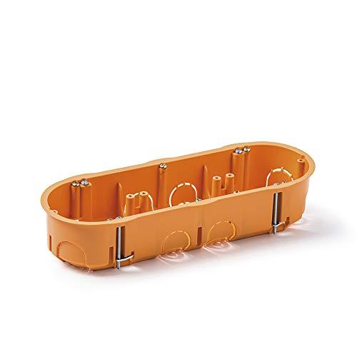 Famatel 3257 Caja empotrar para mecanismos | Triple | 67x45 mm | Naranja