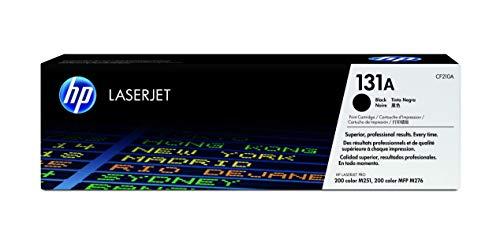 HP 131A CF210A, Negro, Cartucho Tóner Original, de 1.520 páginas, para impresoras HP LaserJet Pro 200 color MFP M276, MFP M276n, MFP M276nw, M251, M251n y M251nw