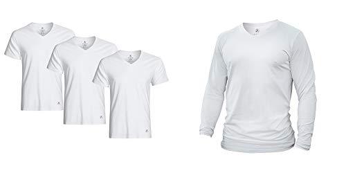Camiseta de manga larga ATEK Dry Fit | Camiseta de manga larga que absorbe la humedad para correr, entrenar y uso casual