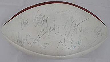 1985 Chicago Bears Multi Autographed Football With 46 Signatures Including Walter Payton JSA #B61193