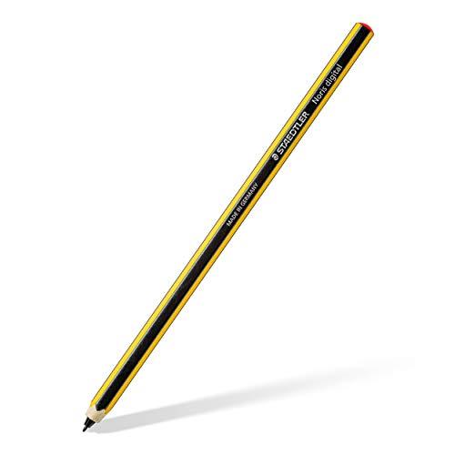 Staedtler 180 22-1 Stylus Noris digital Sechskantform (EMR-Technologie, attraktives Noris Streifen-Design, ergonomische Soft-Oberfläche, feine 0,7 mm Spitze) gelb-schwarz